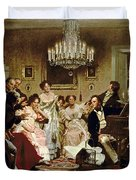 A Schubert Evening In A Vienna Salon Duvet Cover