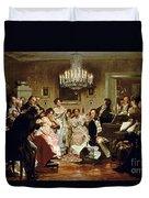 A Schubert Evening In A Vienna Salon Duvet Cover