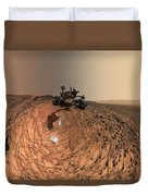 A Selfie On Mars Duvet Cover