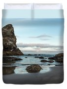 A Serene Morning At Cannon Beach Duvet Cover