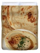A Serving Of Humus Duvet Cover