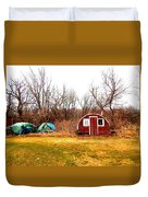 A Shack And Two Stacks Duvet Cover
