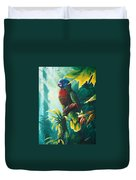 A Shady Spot - St. Lucia Parrot Duvet Cover