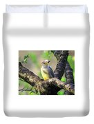 A Shady Woodland Bird Red-bellied Woodpecker Duvet Cover