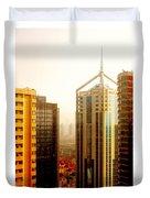 A Shanghai Sunset Duvet Cover