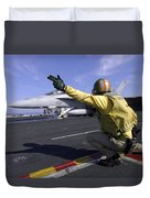 A Shooter Signals The Launch Of An Duvet Cover by Stocktrek Images