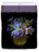 A Shot Of Springtime Wildflowers Duvet Cover