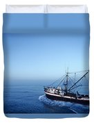 A Shrimp Boat In The Gulf Of Mexico Duvet Cover