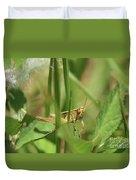 A Shy Grasshopper Duvet Cover