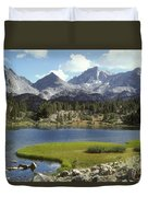 A Sierra Mountain Lake In Summer Duvet Cover