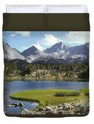 A Sierra Mountain Lake In Summer Duvet Cover