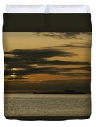 A Silhouetted Russian Submarine Duvet Cover