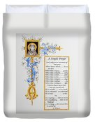 A Simple Prayer Duvet Cover
