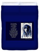 A Single Tear - Poetry In Art Duvet Cover