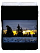 A Sleepy Morning Sunrise Duvet Cover