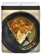 A Slice Of Savory Tomato And Cheese Tart Duvet Cover