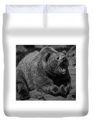A Slightly Upset Grizzly Bear Duvet Cover