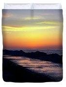 A Sliver Of Sunset Duvet Cover