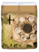 A Small Boma And Family Compound Duvet Cover