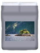 A Small Rocky Island At Doubtful Sound Duvet Cover