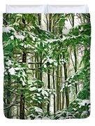 A Snowy Day - Paint Duvet Cover