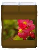 A Soft Red Flower Duvet Cover