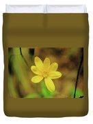 A Soft Yellow Flower  Duvet Cover