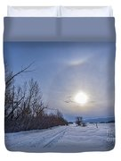 A Solar Halo Around The Sun At The End Duvet Cover