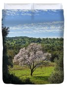 A Solitary Almond Tree Duvet Cover