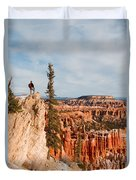 A Solitary Hiker Looks Duvet Cover