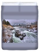 A Spokane Falls Winter Duvet Cover