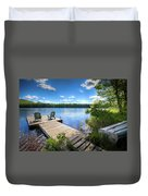 A Spring Day On West Lake Duvet Cover