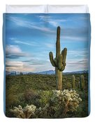 A Spring Evening In The Sonoran  Duvet Cover