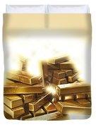 A Stack Of Gold Bullion  Duvet Cover