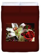 A Star Lily With  A Rose Duvet Cover