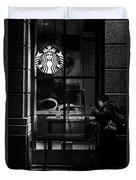 A Starbucks Respite In Downtown San Jose Duvet Cover