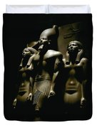 A Statue Of Pharoh Menkaura Duvet Cover