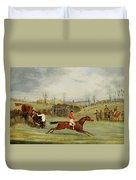 A Steeplechase - Another Hedge Duvet Cover