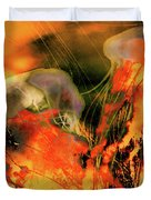 A Sting Like Fire Duvet Cover