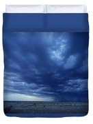 A Storm Brews On The Horizon Duvet Cover