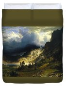 A Storm In The Rocky Mountains Mt. Rosalie, 1866 Duvet Cover