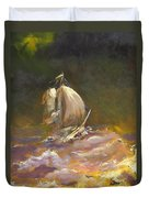 A Stormy Night At Sea Duvet Cover