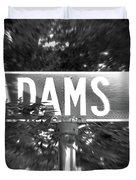 Ad - A Street Sign Named Adams Duvet Cover