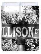 Al - A Street Sign Named Allison Duvet Cover