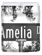 Am - A Street Sign Named Amelia Duvet Cover