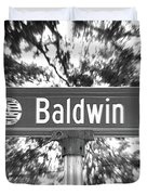 Ba - A Street Sign Named Baldwin Duvet Cover