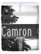 Ca - A Street Sign Named Camron Duvet Cover