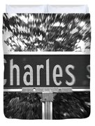 Ch - A Street Sign Named Charles Duvet Cover