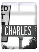 Ch - A Street Sign Named Charles Speed Limit 35 Duvet Cover