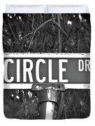 Ci - A Street Sign Named Circle Duvet Cover